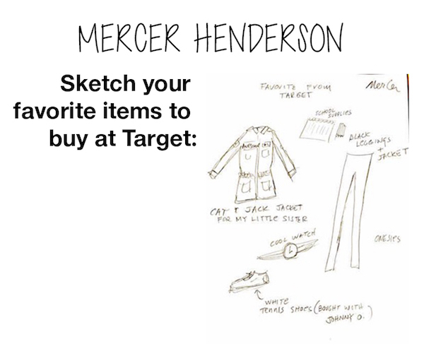 Mercer Henderson's illustration of her favorite items to buy at Target