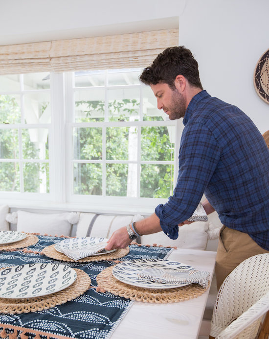 Nate Berkus setting the Father's Day table