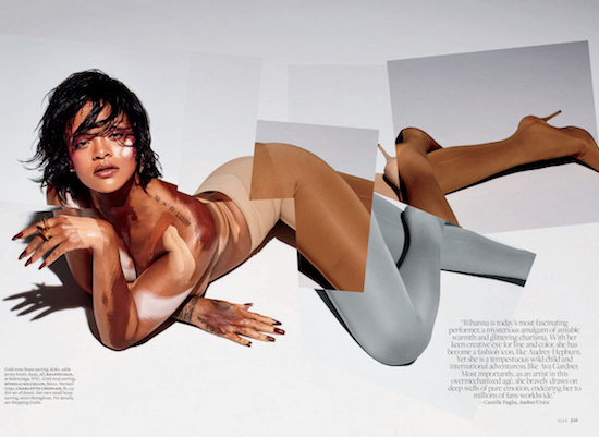 Rihanna showing off her defy & INSPIRE manicure in Elle magazine