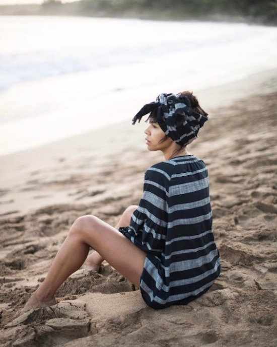 Taye Hansberry in a beachy Who What Wear outfit
