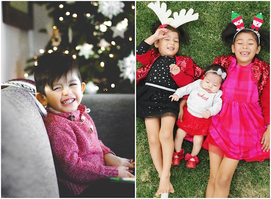 Bricia and Paulina Lopez's children dressed in holiday looks from Target