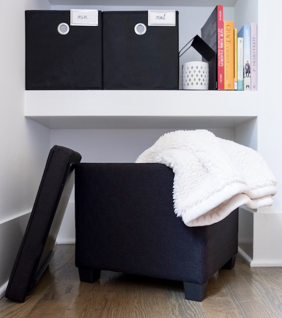 Organized bedroom nook