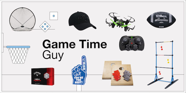 Game time guy product collage
