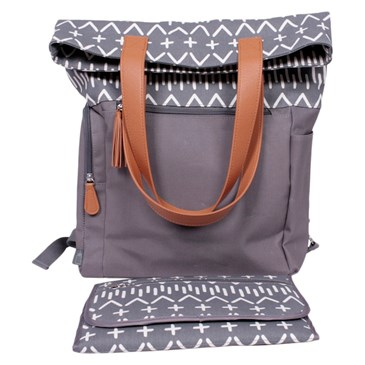 backpack diaper bag in southwestern pattern