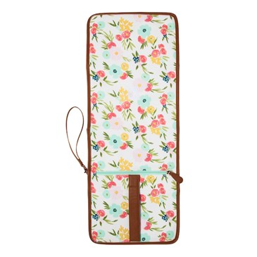diaper clutch in floral pattern
