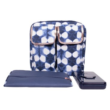 diaper day pack in shibori print