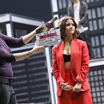 Maren Morris prepares to film the spot