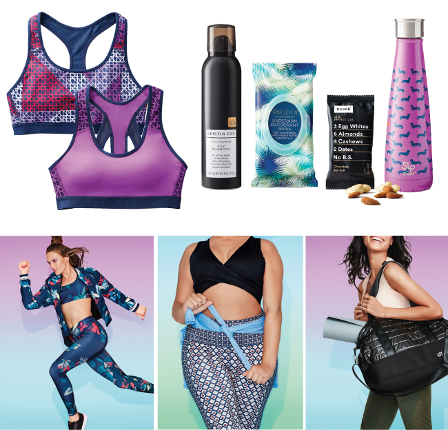 Assorted workout products