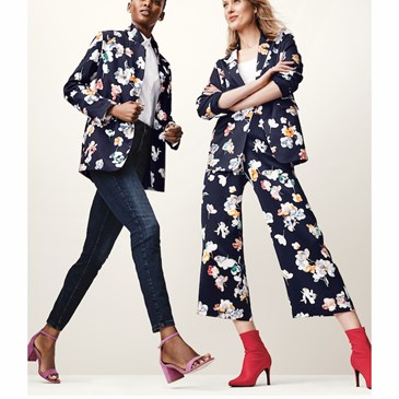 Two models wearing floral clothing from A New Day