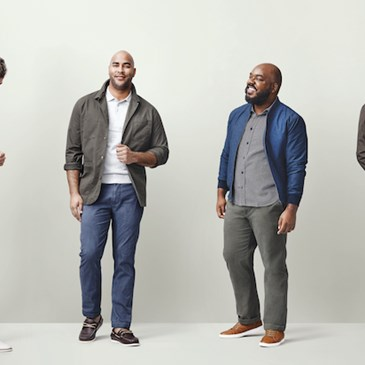 Four male models showing off Goodfellow & Co