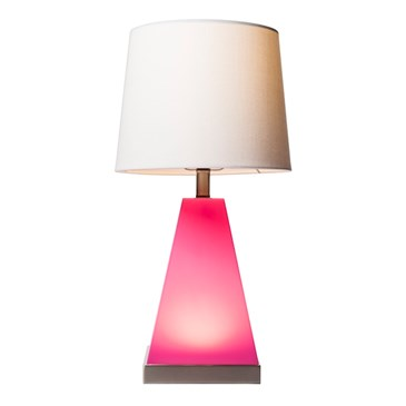 2-in-1 Pink Tapered Table Lamp