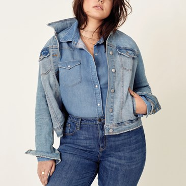 Universal Thread jeans, denim chambray shirt and jean jacket