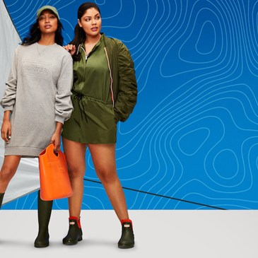 Models wearing Hunter for Target clothing