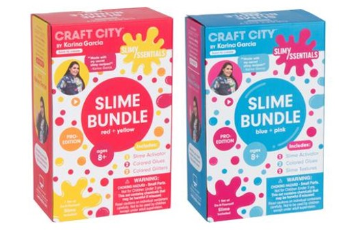 Get your goo on with slime queen karina garcias craft city kits there are also two new slime kits for pro slimers the slimyssentials bundles available in red and yellow or blue and pink each kit comes with two new ccuart Gallery