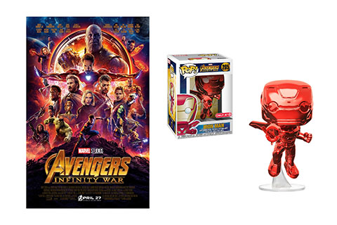 Avengers: Infinity War DVD and Iron Man Funko POP! figure