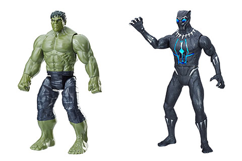 Hulk and Black Panther action figures