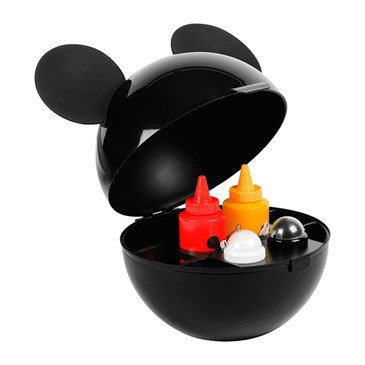 Mickey-ears-shaped condiment caddy