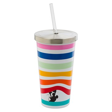 Colorful striped tumbler