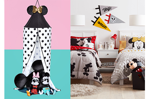 Mickey and Minnie bedding and accessories