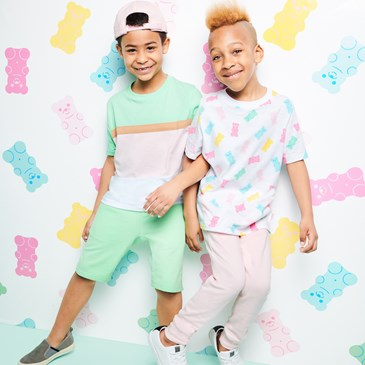 Kid models wearing new Museum of Ice Cream Art Class collection