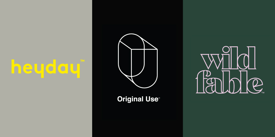 Heyday, Original Use and Wild Fable logos