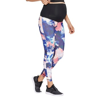 395563e69f Floral Print Active Leggings with Crossover Panel +2  Plus Size ...