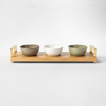 Tray with three bowls
