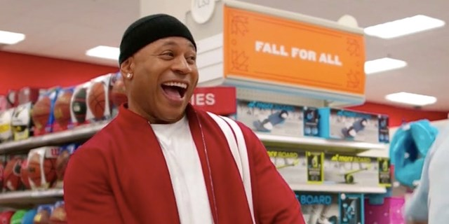 LL COOL J stands in the Target sporting goods aisle
