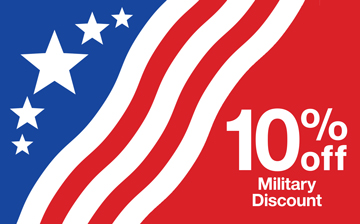 click to learn more about our 10%25 Military discount