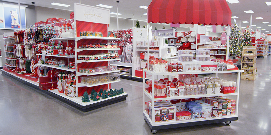Festive displays of holiday fare, from hot chocolate toppings and treats to ornaments and more