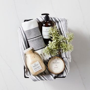 A basket filled with new Hearth and Hand products