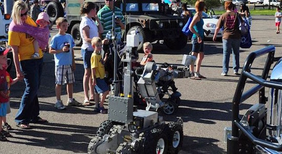 Robot at the Minot, North Dakota National Night Out