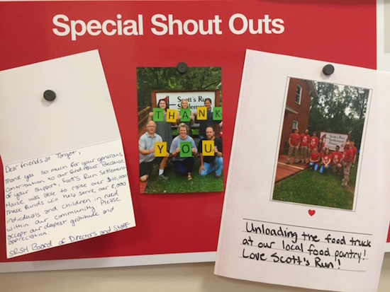 Thank you notes from the Scott's Run Settlement House