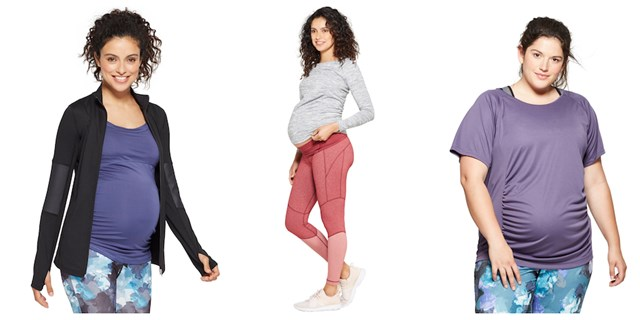 Collage of images from the new Isabel Maternity activewear collection