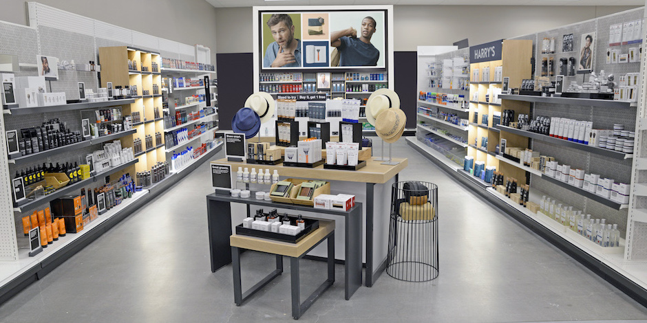 new men's grooming space with new products and Goodfellow & Co accessories