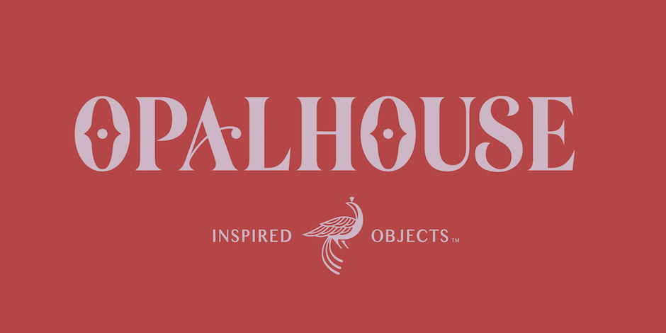 Red Opalhouse logo, inspired objects