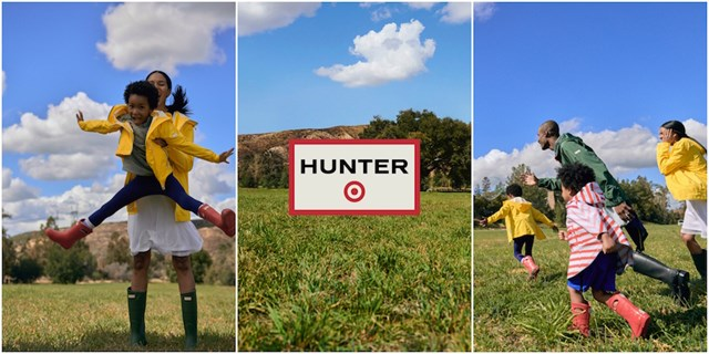 Three image collage of Hunter for Target catalog images