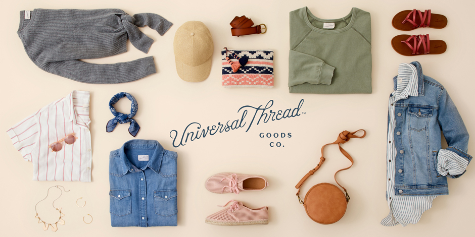 Product collage of new Universal Thread items
