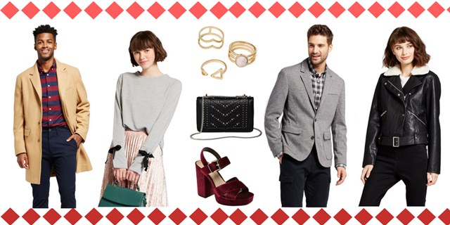 Target apparel and accessories collage