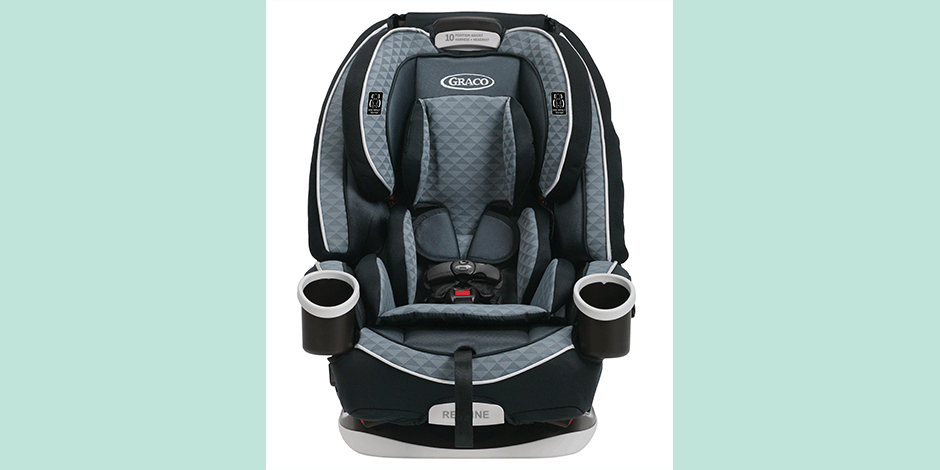 Graco Car Seat Over A Light Blue Background