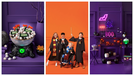 Image collage of three Halloween marketing images