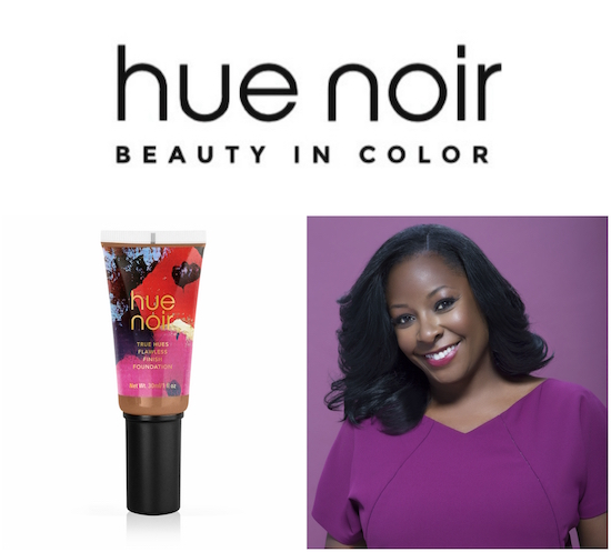 HUE NOIR logo, foundation and founder