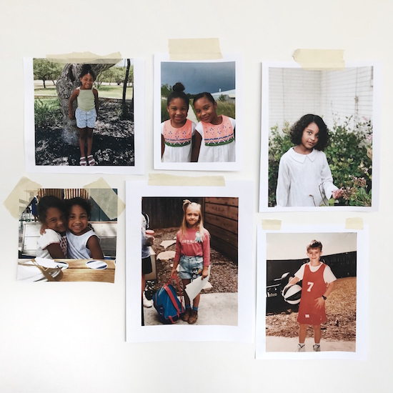 Polaroids of Billy's kids and family