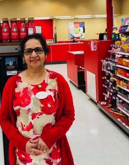 Gulzar working at her Target store