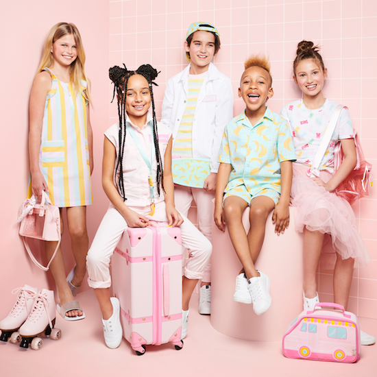 Kids wearing the new Art Class Museum of Ice Cream collection