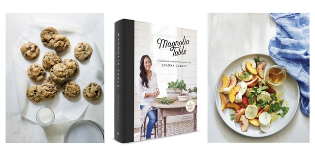 "Chocolate chip cookies, ""Magnolia Table"" cookbook and peach caprese"