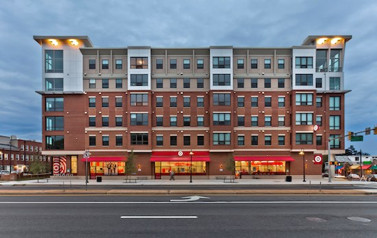 exterior view of Target store on street in College Park, MD