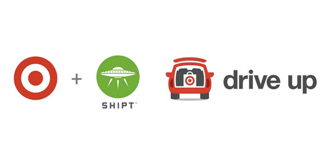 Target + Shipt and Drive Up logos