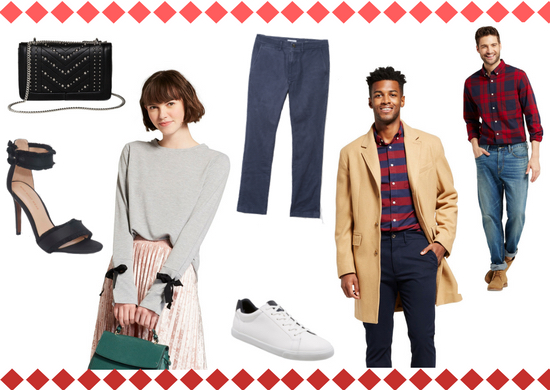 Outfit collage showcasing Target new brand styles for men and women
