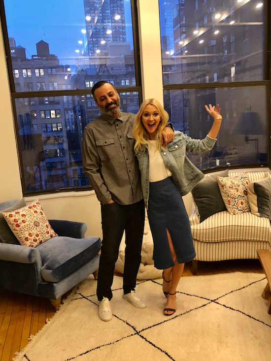 Zanna Roberts Rassi with husband Mazdack Rassi, wearing Target outfits for Valentine's Day